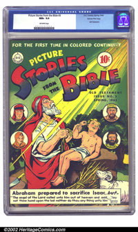 Picture Stories from the Bible #3 (Old Testament) Gaines File pedigree 4/12 (EC, 1943) CGC NM+ 9.6 Off-white pages. A gr...