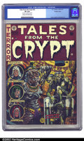 Golden Age (1938-1955):Horror, Tales From the Crypt #33 Double cover (EC, 1952) CGC VF 8.0 Creamto off-white pages. This is an extremely rare book because...