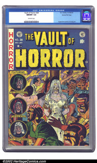 Vault of Horror #28 Gaines File pedigree Certificate Missing (EC, 1953) CGC NM/MT 9.8 Off-white pages. One of Johnny Cra...