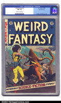 Golden Age (1938-1955):Science Fiction, Weird Fantasy #21 Gaines File pedigree 3/12 (EC, 1953) CGC NM- 9.2Off-white to white pages. Williamson and Frazetta team up...