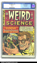 Golden Age (1938-1955):Science Fiction, Weird Science #12 (#1) Cosmic Aeroplane pedigree (EC, 1950) CGC NM9.4 Off-white pages. The 1950s gave us the genre of scien...
