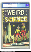 Golden Age (1938-1955):Science Fiction, Weird Science #7 (EC, 1951) CGC NM- 9.2 Off-white pages. AlFeldstein does one of his more famous covers for the series, and...