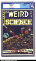 Golden Age (1938-1955):Science Fiction, Weird Science #11 Gaines File pedigree 4/12 (EC, 1952) CGC NM/MT9.8 Off-white pages. This explosive Feldstein cover gave ki...