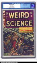 Golden Age (1938-1955):Science Fiction, Weird Science #17 Gaines File pedigree 7/9 (EC, 1953) CGC NM 9.4Off-white to white pages. A pretty grim and scary corpse-fi...