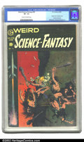 Golden Age (1938-1955):Science Fiction, Weird Science-Fantasy #29 (EC, 1955) CGC VF- 7.5 Cream to off-whitepages. An awesome cover by Frank Frazetta fronts a peerl...