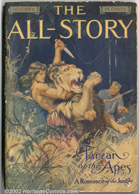 All Story Oct 1912, First Appearance of Tarzan (Munsey, 1912). Ninety years ago, a cheaply-printed publication appeared...