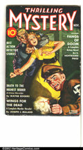 Pulps:Detective, Thrilling Mystery Group Yakima pedigree (Standard, 1941-1944) Condition: FN. Both of these cool pulps feature blondes in dan... (Total: 2 it items Item)