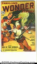 Pulps:Science Fiction, Wonder Stories lot Yakima pedigree (Standard, 1941-1951) Condition:F/VF. The August 1941 issue in is really immaculate cond... (Total:2 Comic Books Item)