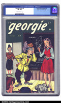 Golden Age (1938-1955):Humor, Georgie Comics #6 Mile High pedigree (Timely, 1946) CGC VF+ 8.5 Off-white to white pages. In this issue, Georgie visits Time...