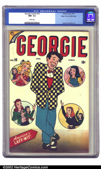 """Georgie Comics #10 Mile High pedigree (Timely, 1947) CGC NM- 9.2 White pages. Teen-age """"good girl"""" humor gives..."""
