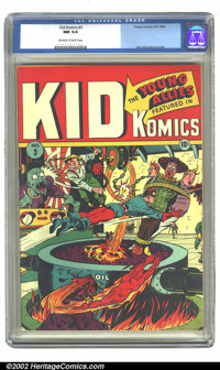 Kid Komics #3 (Timely, 1943) CGC NM 9.4 Off-white to white pages. The Young Allies do their best to stay out of trouble...