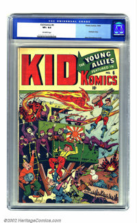 Kid Komics #6 (Timely, 1944) CGC VF+ 8.5 Off-white pages. Schomburg strikes again! Do you get the feeling that if you ha...