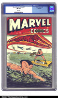 Golden Age (1938-1955):Superhero, Marvel Mystery Comics #77 Big Apple pedigree (Timely, 1946) CGC NM 9.4 White pages. A stylish post-Schomburg cover comes cou...