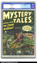 Golden Age (1938-1955):Horror, Mystery Tales #1 Bethlehem pedigree (Atlas, 1952) CGC VF- 7.5Off-white pages. Horror strikes at the stroke of midnight and ...