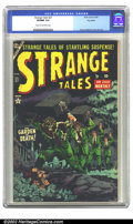 Golden Age (1938-1955):Horror, Strange Tales #27 Big Apple pedigree (Atlas, 1954) CGC VF/NM 9.0Cream to off-white pages. Featuring a very dramatic Harry A...