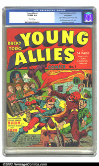 Young Allies Comics #1 Pennsylvania pedigree (Timely, 1941) CGC VF/NM 9.0 Off-white pages. The dynamic duo of Simon and...