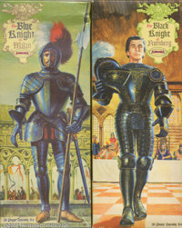 The Blue Knight of Milan & The Black Knight of Nurnberg (Aurora, 1956). Some of the earliest Aurora model kits, and...