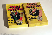 Mary Marvel Wrist Watch (Fawcett, 1948). Here is a Mary Marvel Wrist Watch is mint/unused in a nice full color cardboard...