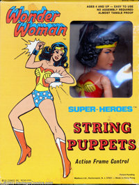 Wonder Woman String Puppet (DC, 1977). 1966 was a great year for toys; the 2nd explosion of comic related toys was in fu...