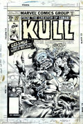 Original Comic Art:Covers, Ernie Chan and Rudi Nebres - Original Cover Art to Kull #27(Marvel, 1978). Kull the Destroyer takes on Gasshga, the Man-Mon...