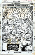 Original Comic Art:Covers, Gene Colan - Original Cover Art to Howard the Duck #18 (Marvel,1977). This issue of the Howard the Duck comic book series s...