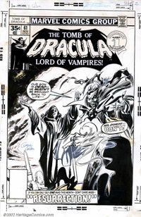 Gene Colan and Tom Palmer - Cover art to Tomb of Dracula #61 (Marvel, 1977). It doesn't get more macabre than this cover...