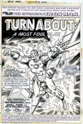 Original Comic Art:Splash Pages, Arvell Jones, Keith Pollard and Jim Mooney - Iron Man #73, Splashpage (Marvel, 1974). Fans of Iron Man will love to own thi...