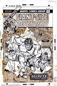 Gil Kane and Mike Esposito - Original Cover Art for Giant-Size Defenders #1 (Marvel, 1974). You would be hard pressed to...