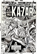 Original Comic Art:Covers, Gil Kane and Frank Giacoia - Original Cover Art to Ka-Zar #5(Marvel, 1974). A dynamic cover piece by the indomitable Gil Ka...