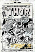 Original Comic Art:Covers, Gil Kane - Original Cover Art for Thor #208 (Marvel,1973). A mythic cover from the late 70s penciled by Gil Kane shows the T...