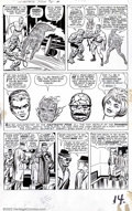 Original Comic Art:Panel Pages, Jack Kirby and Dick Ayers - Fantastic Four #15, page 10 (Marvel,1962). The Thinker's plan is in full effect in this poignan...