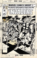 Original Comic Art:Covers, Jack Kirby and Joe Sinnott - Original Cover Art for The Invaders#32 (Marvel, 1978). The greatest superheroes of World War I...