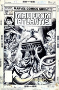 Original Comic Art:Covers, Rudy Nebres - Original Cover Art for Man From Atlantis #7(Marvel,1978). From the depths of the late 70s bubbles up thislus...