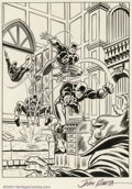 "Original Comic Art:Comic Strip Art, John Romita, Sr. - Original Daredevil Presentation Illustration(1974). Prepared as a presentation piece for a proposed ""Dar..."