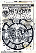 Original Comic Art:Covers, John Romita - Original Cover Art for Ghost Rider #7 (Marvel, 1974). Ghost Rider gives 'em hell in this eye-popping cover pen...
