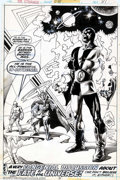 Original Comic Art:Splash Pages, Jim Starlin and Rudy Nebres - Original Art Splash Page for Dr.Strange #26 (Marvel, 1977). This is the last page to issue #...