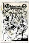 Original Comic Art:Covers, Jose Luis Garcia-Lopez and Dick Giordano - Original Cover Art forWorld's Finest #248 (DC, 1978). Has Bruce Wayne murdered B...