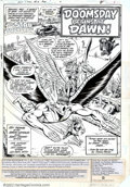 Original Comic Art:Splash Pages, Adrian Gonzales and Jerry Ordway - Original Art Splash Page for AllStar Squadron #12 (DC, 1982). Fans of Hawkman will love ...