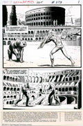 "Original Comic Art:Complete Story, Russ Heath - Original Art for Our Army at War #273 Complete 12-pageStory ""The Arena!"" (DC, 1974). In this unique story, the..."