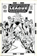 Original Comic Art:Covers, Carmine Infantino and Mike Sekowsky (attributed to) - OriginalUnused Cover Art for Justice League of America (First Series) #...