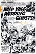 Original Comic Art:Splash Pages, Jack Kirby and Mike Royer - Original Splash Page Art for MisterMiracle #18, page 4 (DC, 1974). Spectacular title splash pag...
