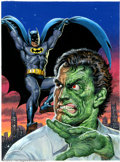 Original Comic Art:Paintings, Earl Norem - Original Painting of Batman and Two-Face (undated). Apremier cover painter of the '70s and '80s, Earl Norem h...
