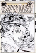 Original Comic Art:Covers, Bob Oskner - Original Cover Art for Supergirl #8 (DC, 1973).Supergirl gets mythological on members of the Justice League in...