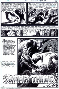 """Bernie Wrightson - Original Art for House of Secrets #92 Complete 8-page Story """"Swamp Thing"""" (DC, 1977). A dar..."""