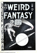 Original Comic Art:Covers, Al Feldstein - Cover Art for Weird Fantasy #16 (EC, 1950). Thisdramatic cover depicts the final lonely moments of a man aba...