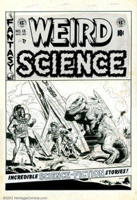 Wally Wood - Original Cover Art to Weird Science #15 (EC, 1952). As if there were any doubt, this classic and spectacula...
