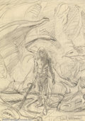 Original Comic Art:Sketches, Frank Brunner - Original Preliminary Sketch for Elric Portfolio Plate (undated). After a short but memorable stint on such q...