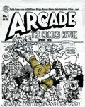 Original Comic Art:Covers, Robert Crumb - Original Cover for Arcade #1 (Print Mint/ 1975).Uplifting entertainment from an artist synonymous with the U...
