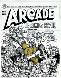 Robert Crumb - Original Cover for Arcade #1 (Print Mint/ 1975). Uplifting entertainment from an artist synonymous with t...