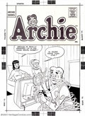 Original Comic Art:Covers, Dan DeCarlo - Original Art for Cover to Archie (MLJ, pre-1962).This early 10-cent Archie cover includes Archie, Bettie, and...